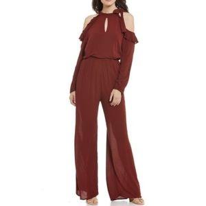 Chelsea & Violet ruffle cold shoulder jumpsuit XL